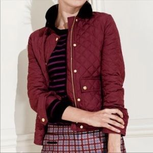 Darling J.Crew quilted jacket w/ corduroy collar